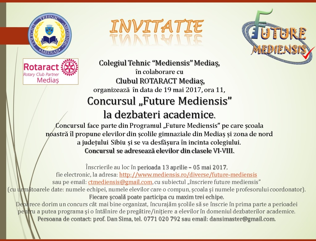 invitatie debate junior