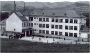 Vedere dinspre curtea şcolii