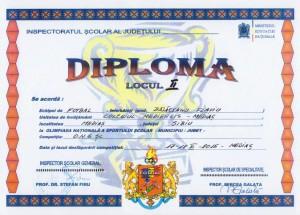 diploma fotbal